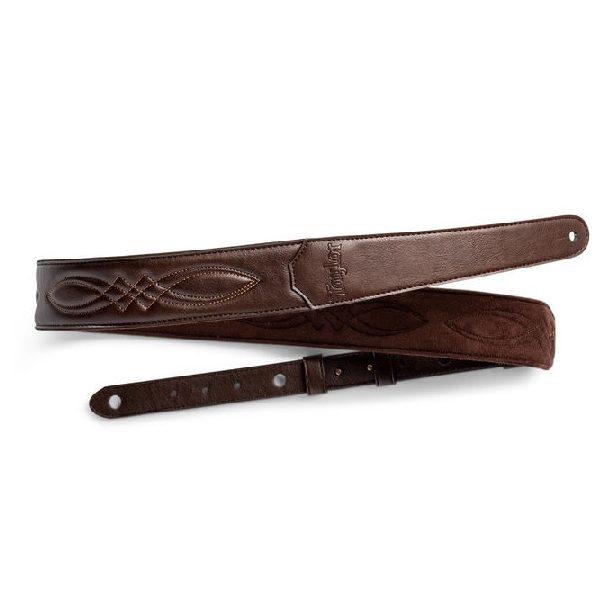 "TV200-05 Vegan Leather Strap, Chocolate Brown, 2"""