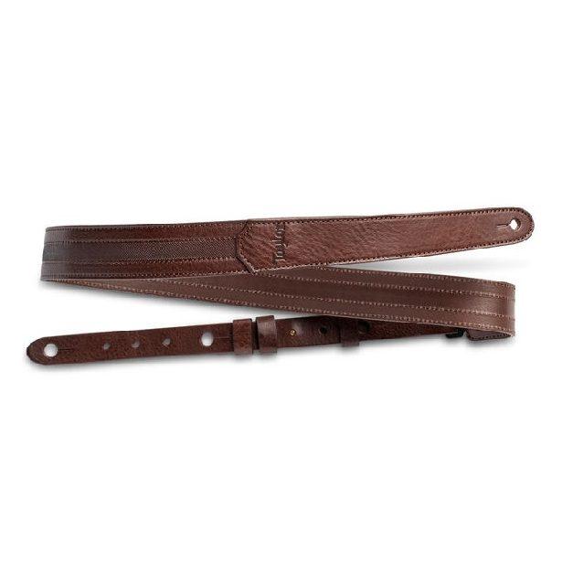 TL150-05 Slim Vegan Leather Strap, Chocolate Brown 1.6″