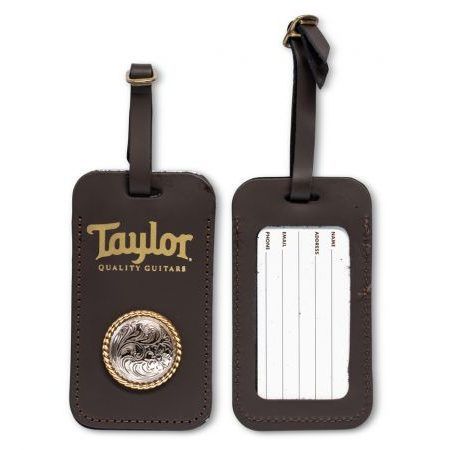 Taylor Leather Luggage Tag w/Concho